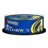 Verbatim DVD+RW 4.7GB 4x Advanced SERL Cake 25 szt. - 43489
