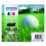 T3466 Multipack 4 tusze 34 CMYK do Epson WF3720 WF3725DWF - 18.7ml