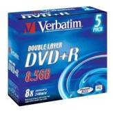 Verbatim DVD+R 8.5GB 8x Dual Layer AZO Jewel Case 5 szt. - 43541