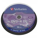 Verbatim DVD+R 8.5GB 8x Double Layer Matt Silver cake box 10 szt. - 43666