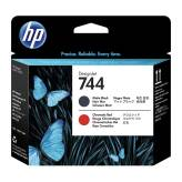 HP 744 F9J88A głowica matte black i chromatic red