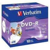 Verbatim DVD+R 4.7GB 16x Wide Printable Jewel Case 10 szt. - 43508