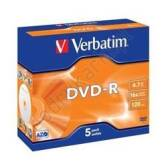 Verbatim DVD-R 4.7GB 16x Matt Silver Jewel Case 5 szt. - 43519