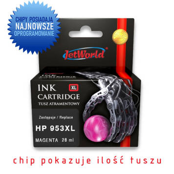 HP 953XL zamiennik F6U17AE tusz magenta do HP OfficeJet Pro 7720 7730 7740 8210 8218 8710 8715 8720 8725 8730 - 28ml